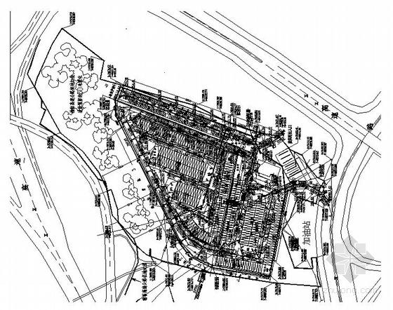 某露天停车场给排水总平面图.rar