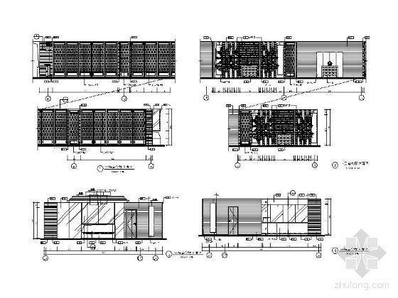 酒楼宴会厅立面设计图
