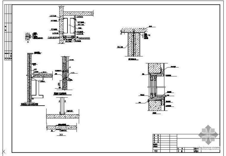某高层轻质墙安装节点构造详图