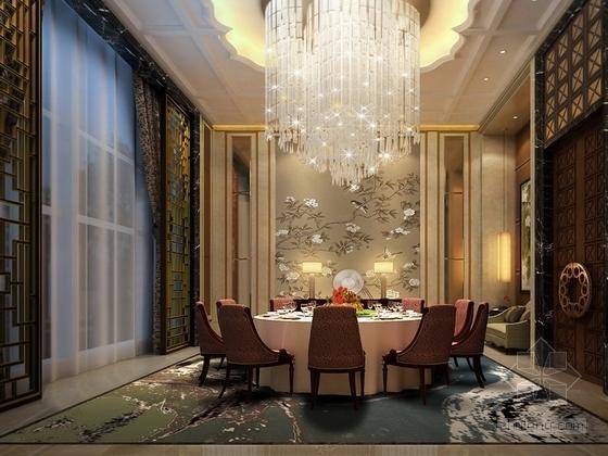 [贵州]新中式超五星级高端酒店包厢效果图