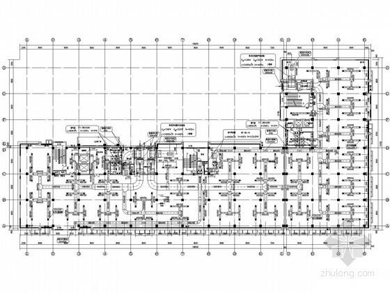 [南京]电子工业厂房空调通风设计全套施工图纸(风冷热泵)
