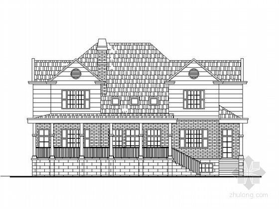 某二层乡村别墅建筑扩初图