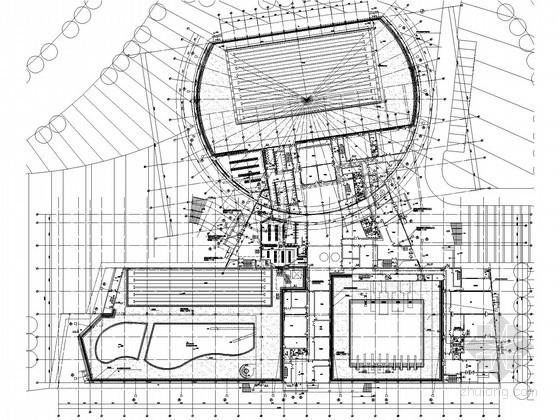 [江苏]体育中心游泳馆给排水消防施工图(消防系统多样)