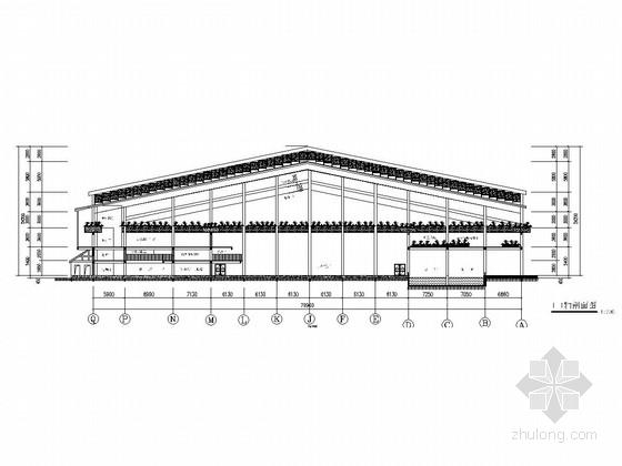 大型旅游度假村生态温棚餐厅建筑及结构施工图(结构为钢结构)