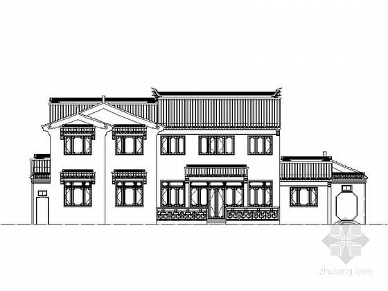 [江苏]3层中式风格独栋别墅设计施工图
