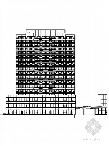 17层现代风格旧车交易市场建筑施工图