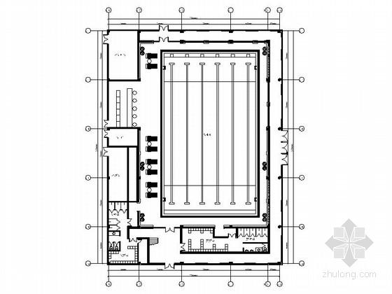 [青岛]恬静禅意度假酒店游泳池装修施工图(含效果)