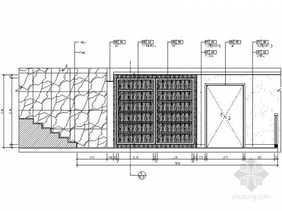 [浙江]园林城市新中式三层别墅样板间装修施工图(含效果)立面图