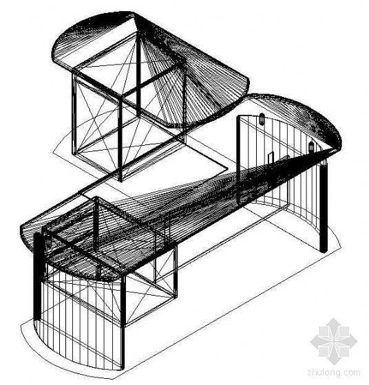 办公家具CAD模型7