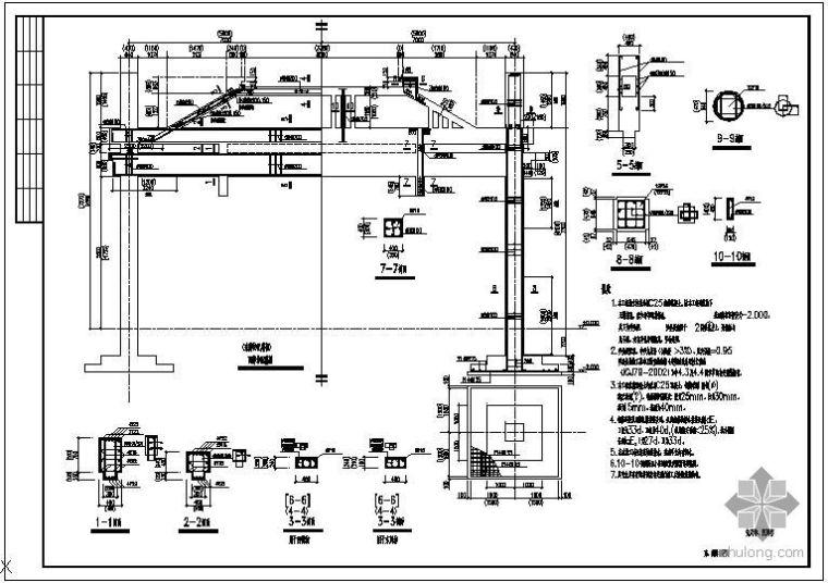 某牌坊的结构节点构造详图