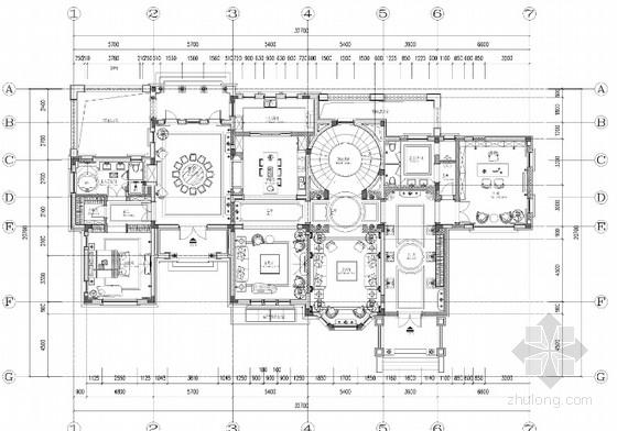 [杭州]新中式豪华别墅室内设计施工图(JPG格式、含报价单)