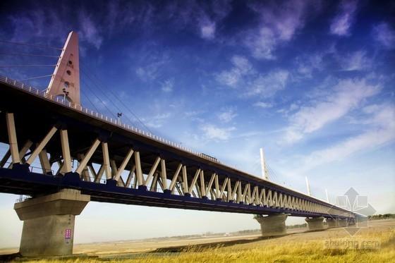 鲁班奖跨黄河公铁两用组合桁架斜拉桥施工组织设计全套资料(453页 附CAD 计算书 质量汇报)