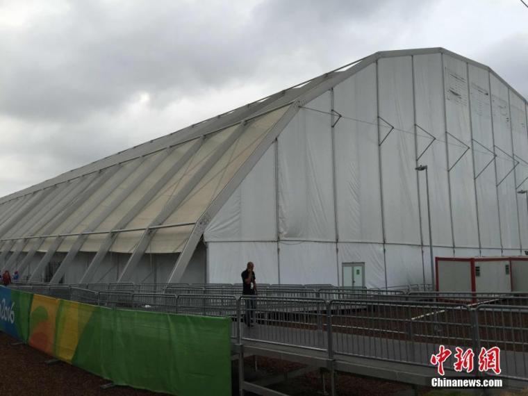 里约奥运村运动员餐厅 外形酷似蔬菜大棚