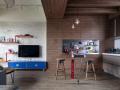 杭州泥巴公社:现代工业风装修效果图,刚与柔的极致之美