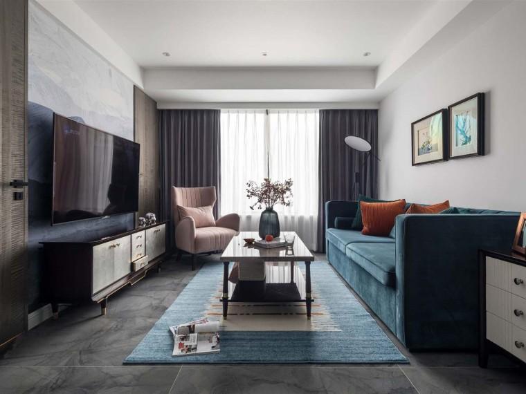 美式轻奢风格的居住空间