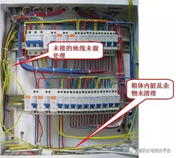 建筑电气工程施工质量通病和解决方法(现场施工图片解说)_28