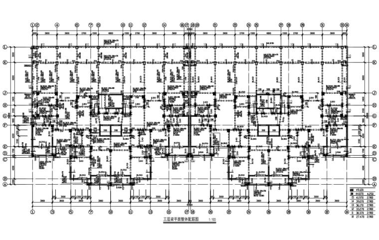 15层框架剪力墙结构住宅结构施工图(CAD、26张)