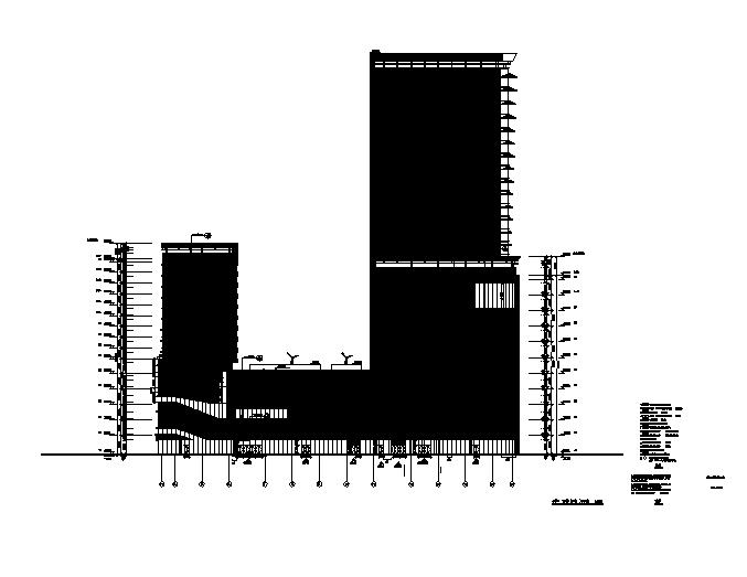 超高层办公商业综合楼建筑施工图(含全专业图纸)