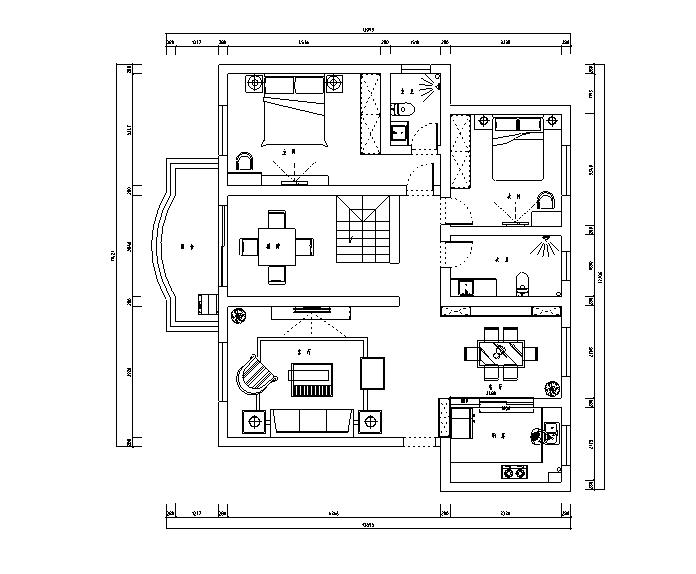 现代简约风流动光影主题别墅设计施工图(附效果图)