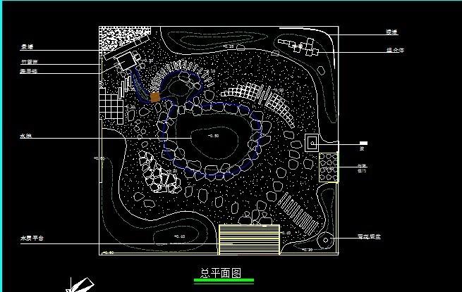 日式景观小庭院CAD套图_3