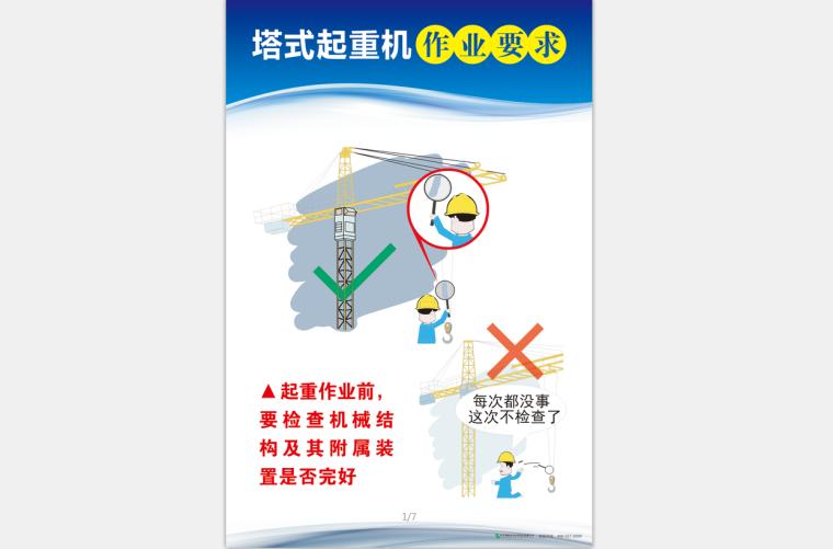 [安全月]塔式起重机作业要求高清挂图