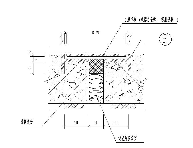 地面变形缝节点详图