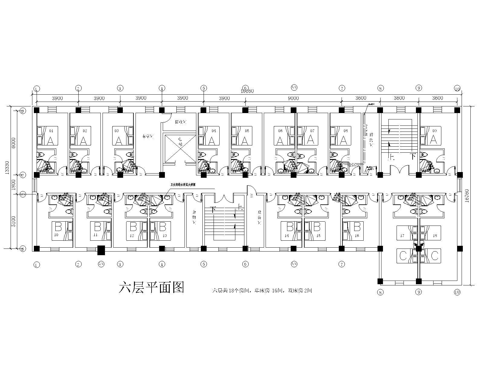 7天连锁酒店标准给排水施工图_4