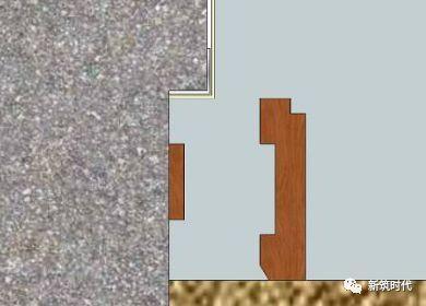木饰踢脚与墙纸平收口施工工艺