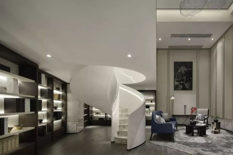 质朴材质也能构建空间气质,顶级别墅样板间设计_19