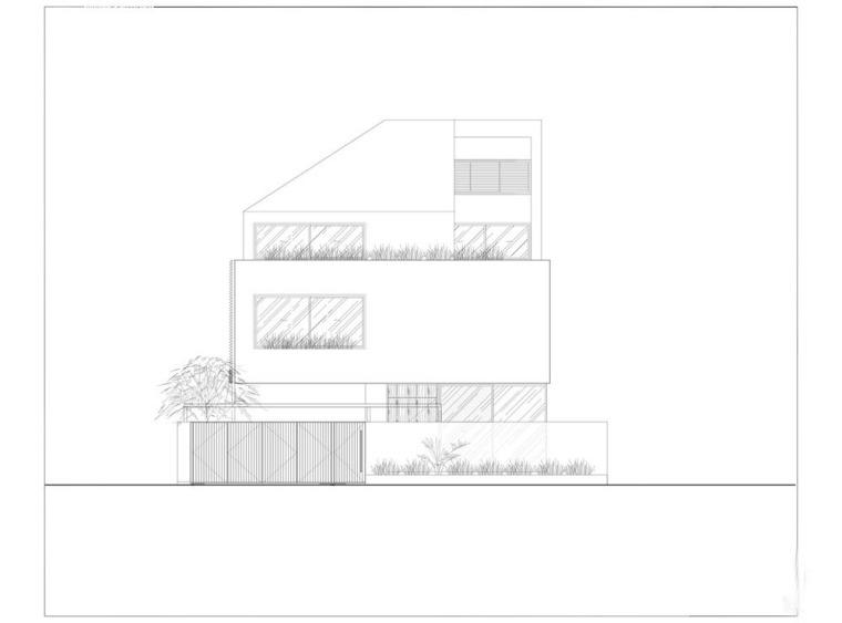 越南胡志明白色方块住宅-26