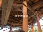 [案例分享]内蒙古巴彦淖尔市磴口县凉亭仿木纹漆