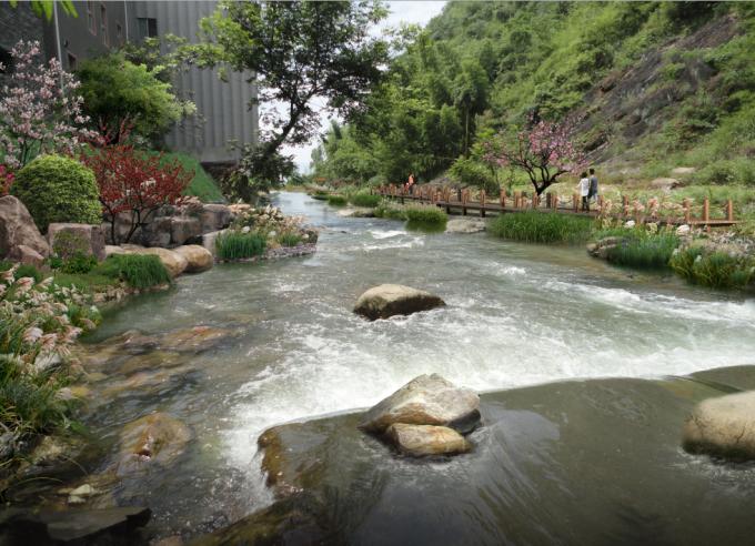 生态河岸线景观效果图