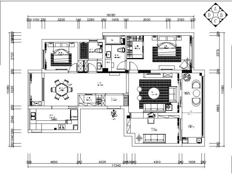 [绍兴]新作!新中式样板间设计施工图(含实景图)