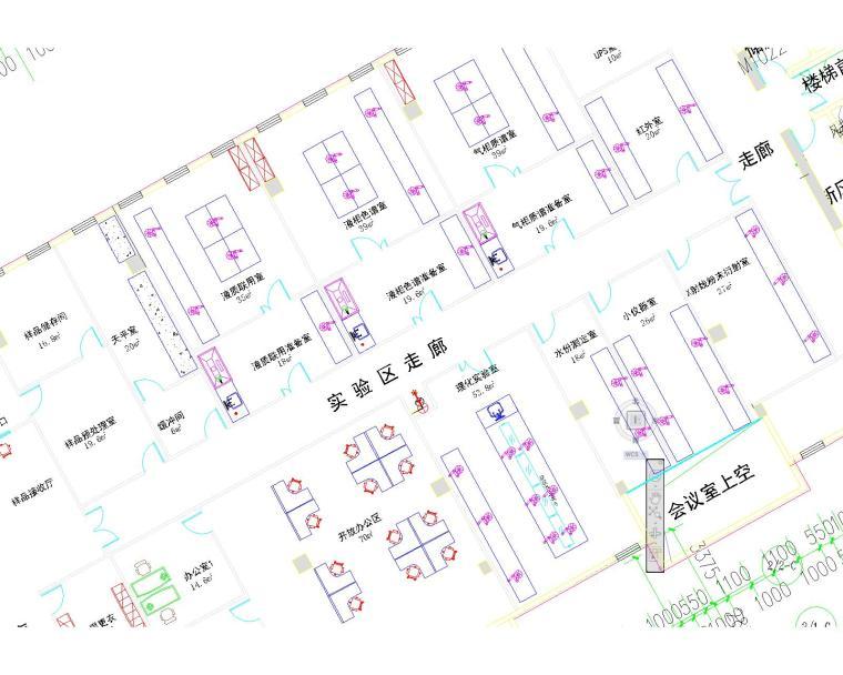 VR实验室平面图资料下载-xx科研综合实验室平面图