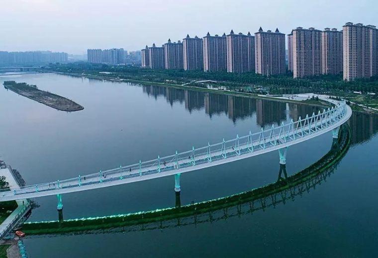 """太原""""汾河之冠""""人行景观桥,尽展结构技艺之美!_6"""