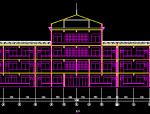 邹城市北宿镇三丁小学教学楼综合楼建筑图