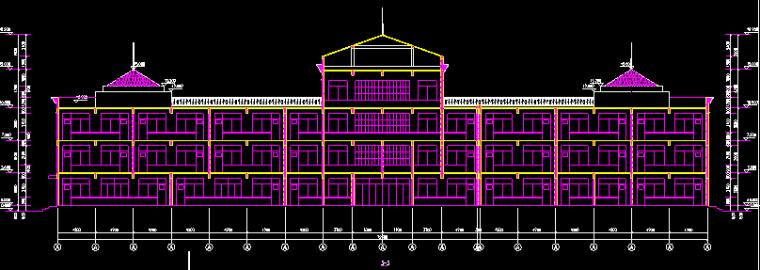 三层小学教学楼综合楼建筑图(设计说明 总平面图 平立剖 详图)