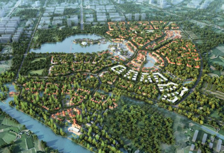 [四川]彭州云裳小镇概念规划设计方案(中西合璧、时尚多元)