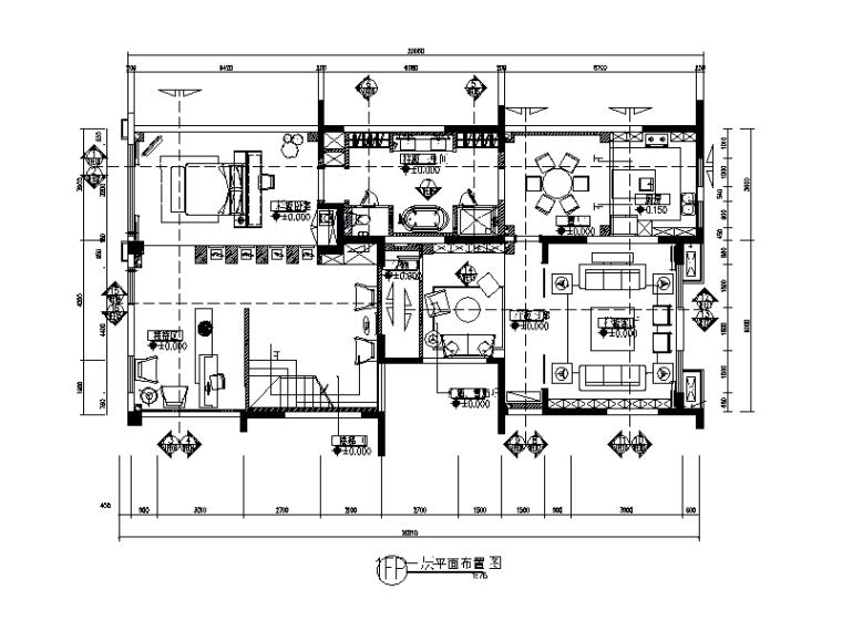 别墅楼办公室设计CAD施工图(含效果图)_1
