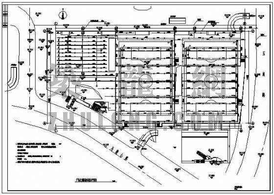 广场及训练场给排水平面图