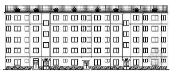 某五层宿舍楼建筑方案图