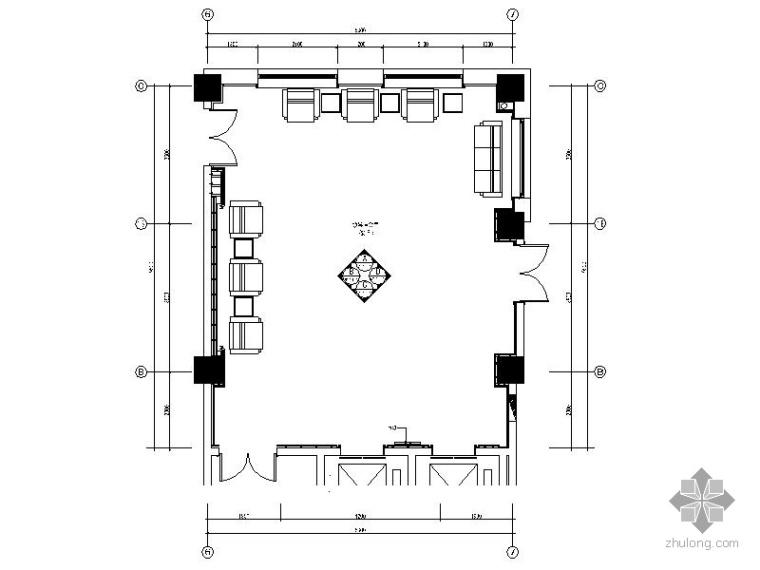 某办公楼领导会议室装修施工图