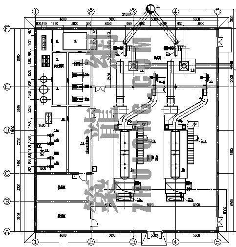 某燃煤锅炉房平面布置图