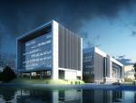 企业办公建筑3D模型下载