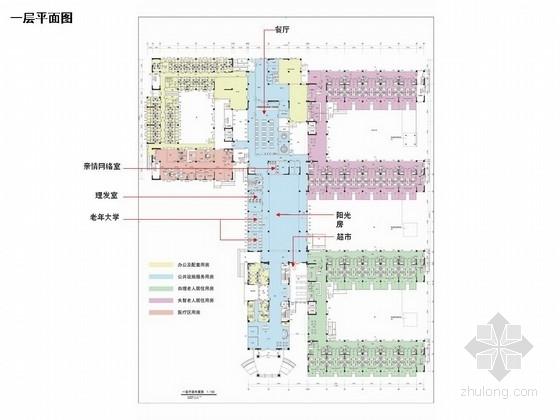 [天津]滨海新城现代老年福利养护院室内设计方案