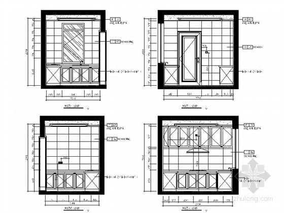 [山东]欧式轻奢华丽样板间室内施工图(含实景照片)-欧式轻奢华丽丽样板间室内施工图(含实景照片)立面图