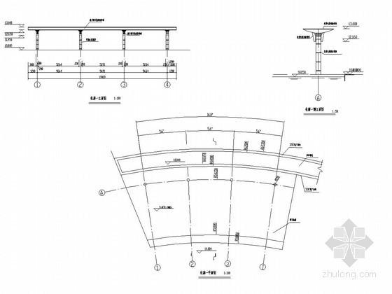 [浙江]城市中心广场景观花架施工详图