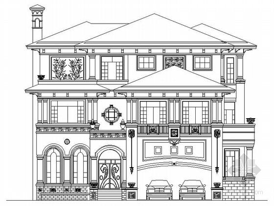 [深圳]某二层欧式风格别墅建筑施工图(含效果图)