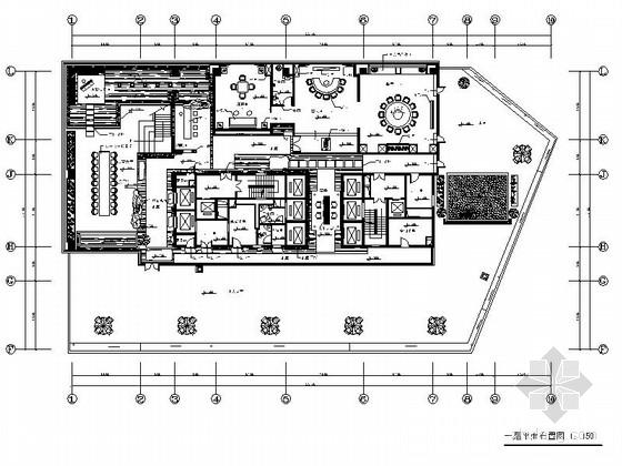 [内蒙古]某奢华茶楼室内装修施工图(含效果和实景)