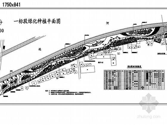 [杭州]河道周边公园绿地景观工程施工图